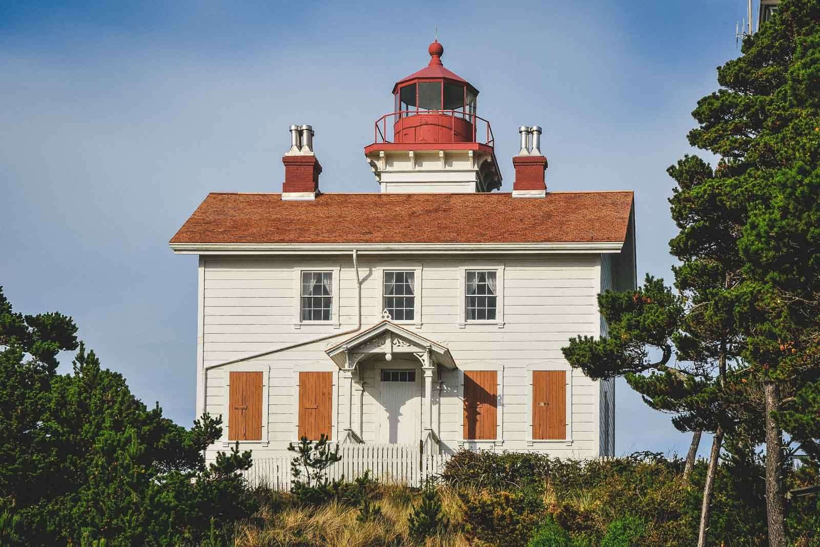 Yaquina Bay Lighthouse in Yaquina Bay State Park, one of the Oregon Coast State Parks
