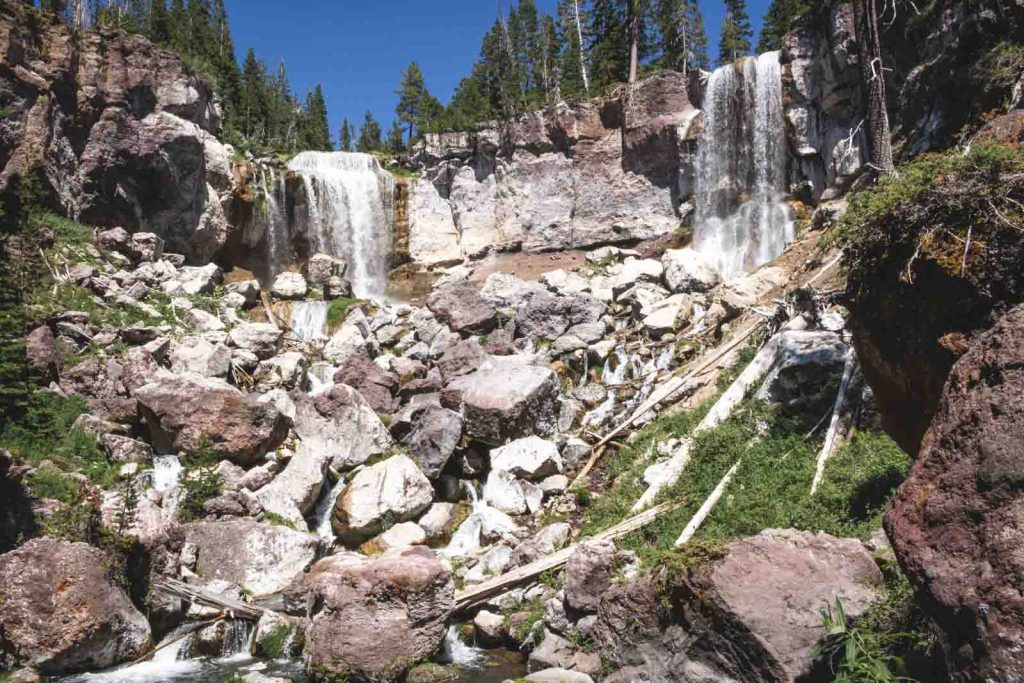 View of Paulina Falls at Newberry National Volcanic Monument