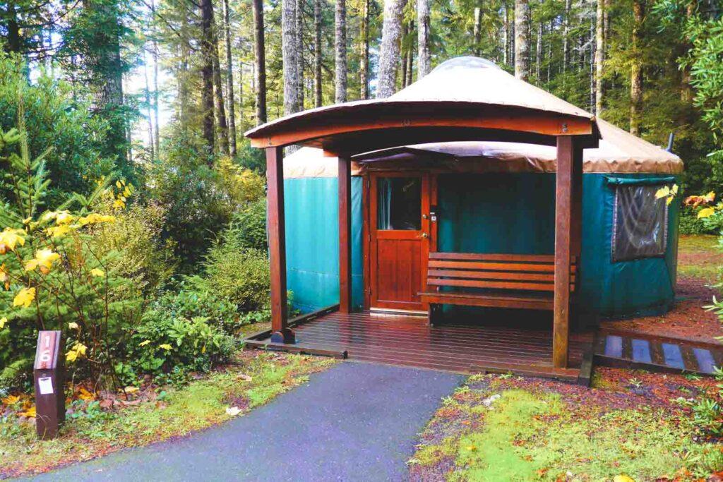 One of the Oregon Yurts at Umpqua Lighthouse State Park