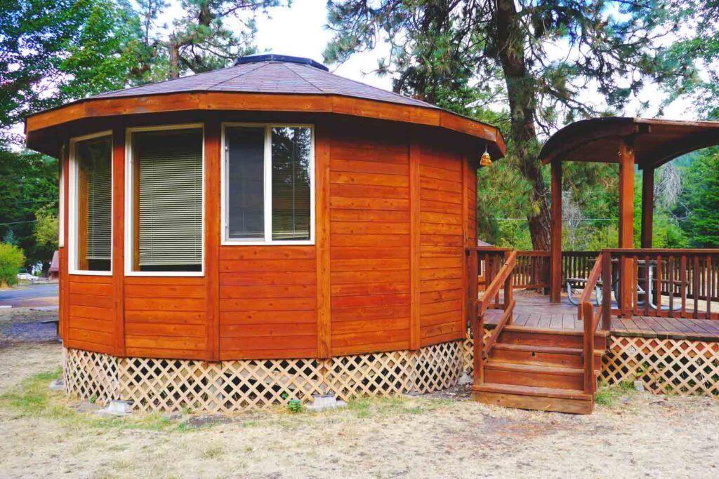 One of the Oregon Yurts at Wallowa Lake State Park