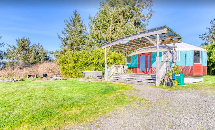 Screenshot of Bay City Yurt - Oregon coast yurts