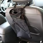 IPELY Universal Car Vehicle Back Seat Headrest Litter Trash Garbage Can (Black)