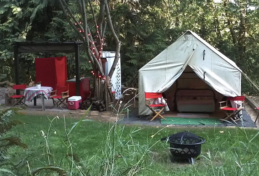 Glamping in Oregon at Camp Heaven