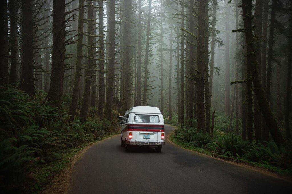 VW bus road trip in Oregon