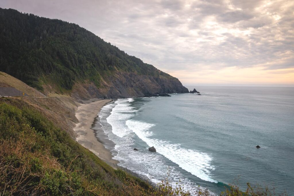 View of the beach at Humbug Mountain State Park, Oregon